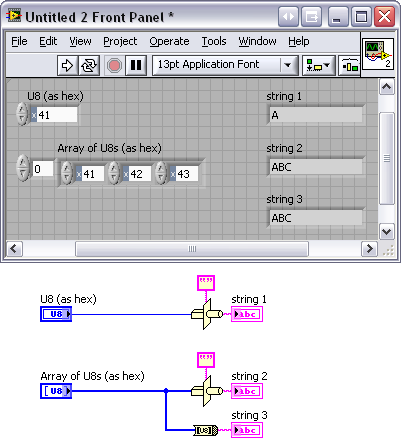 integer to char conversion - LabVIEW General - LAVA