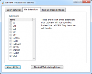 LabVIEW Tray Launcher