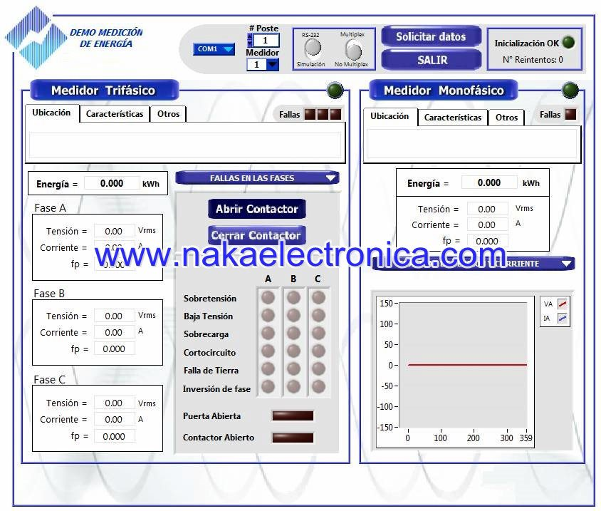 3-Phase Energy Meter demo software