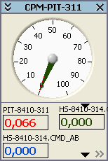 Pressure monitor group window