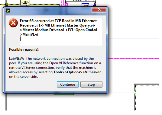 TCP/IP error code 66 - LabVIEW General - LAVA