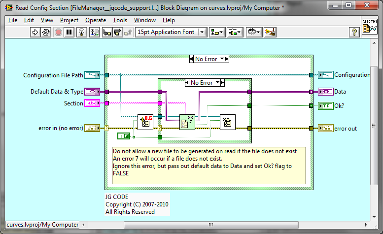 how to read ini file in labview