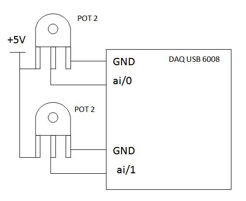daq usb 6008 multiple analog input - hardware