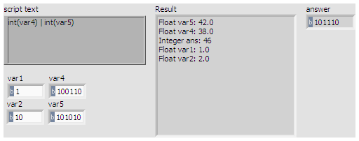 Calculating dynamic formulas with boolean operations - LabVIEW